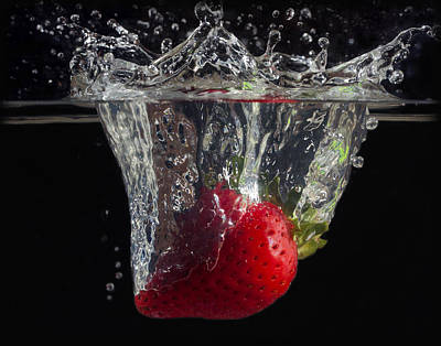 Wall Art - Photograph - Strawberry Splash by Martin Varga