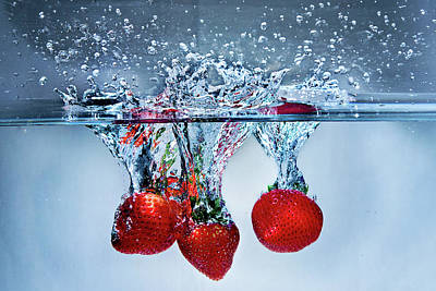 Photograph - Strawberry Splash by Vanessa Valdes