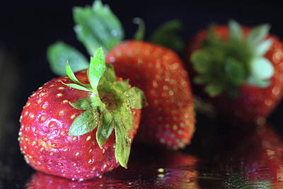 Photograph - Strawberry Still Life by Angela Murdock