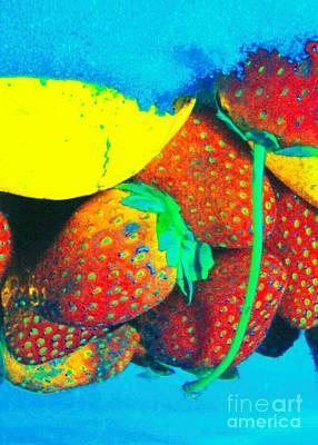 Strawberry Sun  Art Print by Kristine Nora