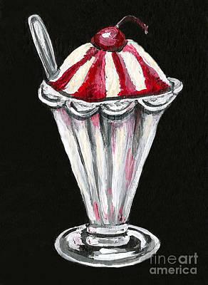 Sundae Painting - Strawberry Sundae by Elaine Hodges