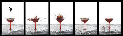 Photograph - Strawberry Wine Drop by Dan Friend