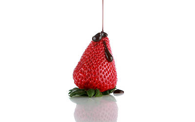 Dray Plants Photograph - Strawberrys And Chocolate by Michael Ledray