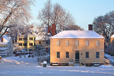 Strawbery Banke In Portsmouth Art Print by Eric Gendron