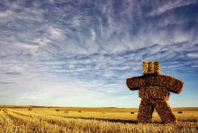 Strawman On The Prairies Art Print
