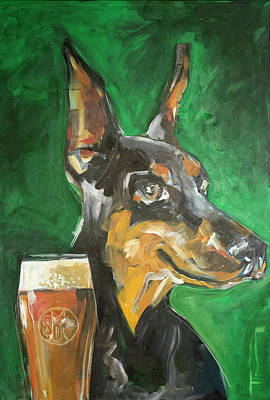 Painting - Stray Dog With Ale by Tim Nyberg