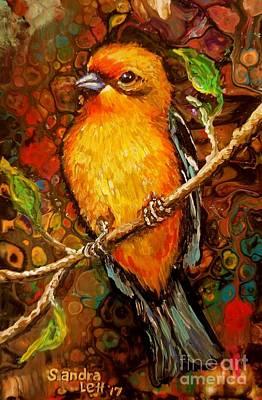 Painting - Streak-backed Oriole by Sandra Lett