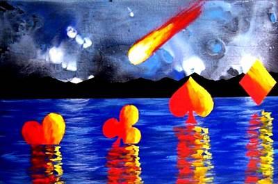 Streaking Comet Poker Art Art Print by Teo Alfonso