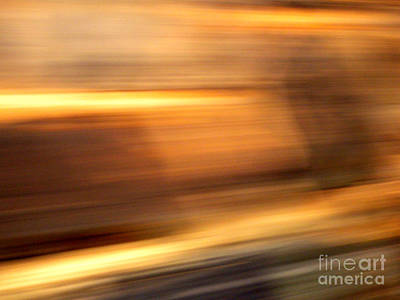 Photograph - Streaks-from A Rolling Train by Robert Riordan