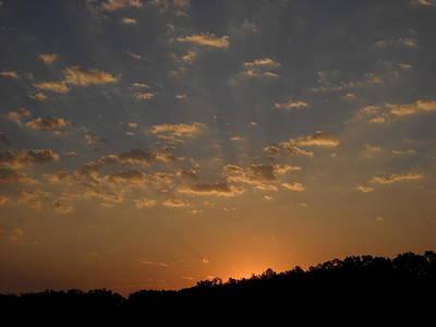Photograph - Streaks Of Light In Dawn Sky by Kent Lorentzen
