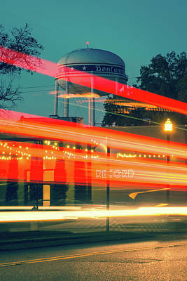 Photograph - Streaks Of Light - Vintage Bentonville Arkansas by Gregory Ballos