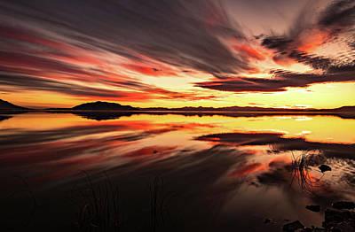 Photograph - Streaks Of Utah Lake by Wesley Aston