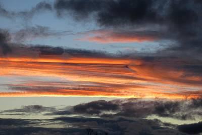 Photograph - Streaky Sunset by Karen Molenaar Terrell