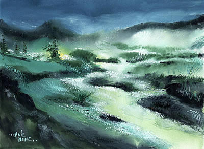 Painting - Stream 2 by Anil Nene