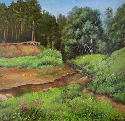 Russianartist Painting - Stream by Anna Shurakova