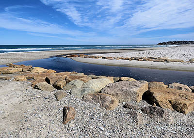 Photograph - Stream At White Horse Beach by Janice Drew