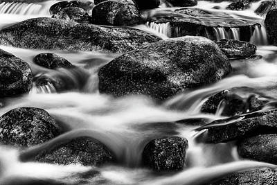 Stream In Black And White Art Print