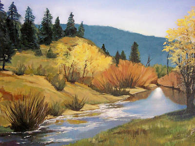 Stream In Modoc County Art Print by Maralyn Miller