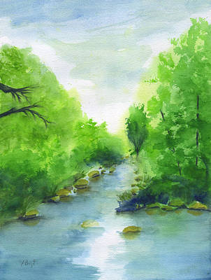 Painting - Stream In Sedona by Frank Bright