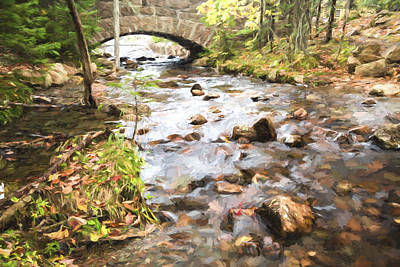 Maine Landscapes Digital Art - Stream In The Fall by Jon Glaser
