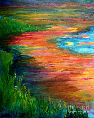 Julie Lueders Artwork Painting - Stream Of Color by Julie Lueders