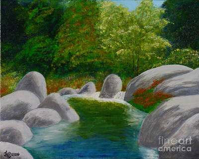 Painting - Stream One by Jack Hedges