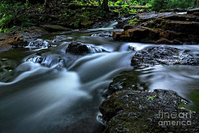 Photograph - Stream Over Rocks by Charline Xia