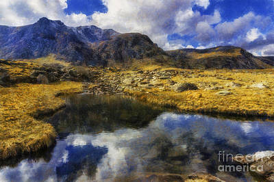 Stream Reflections Art Print by Ian Mitchell