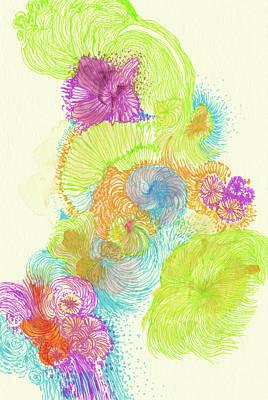 Stream - #ss18dw005 Art Print by Satomi Sugimoto