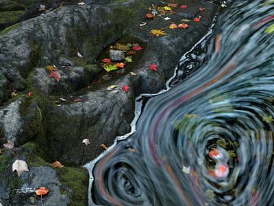 Photograph - Stream Swirl On Acadia by Tim Fitzharris