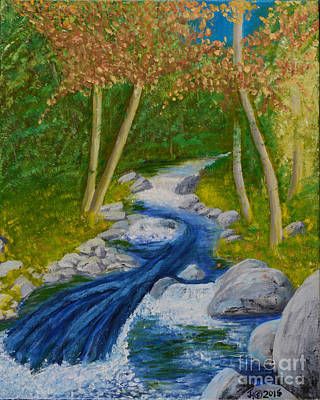 Painting - Stream Two by Jack Hedges