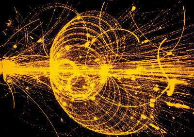Impact Photograph - Streamer Chamber Photo Of Particle Tracks by Cern