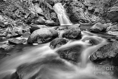 Photograph - Streaming Below Falls Creek Falls Black And White by Adam Jewell