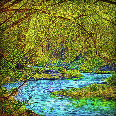Digital Art - Streaming Forest Dream by Joel Bruce Wallach
