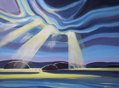 Painting - Streaming Light  by Barbel Smith