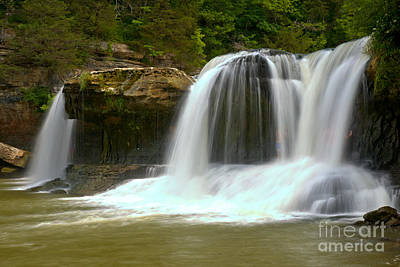 Photograph - Streaming Over Cataract Falls by Adam Jewell