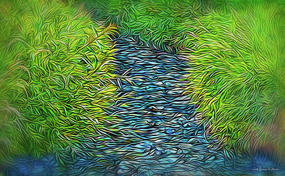 Digital Art - Streaming Passage by Joel Bruce Wallach