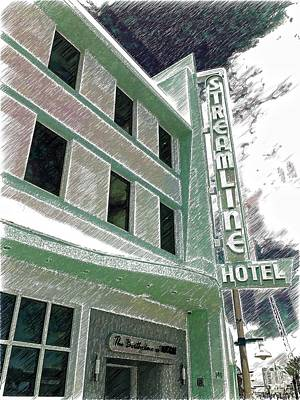 Photograph - Streamline Hotel by Alice Gipson