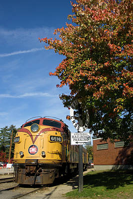 Photograph - Streamliner Train In Foliage by John Clark