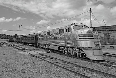 Photograph - Streamliners At Spencer  C B Q 9911 Bw by Joseph C Hinson Photography