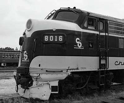 Photograph - Streamliners At Spencer C O 8016 B W 1 by Joseph C Hinson Photography