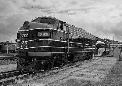 Photograph - Streamliners At Spencer B O 722 B W 1 by Joseph C Hinson Photography