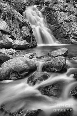 Photograph - Streams Below Falls Creek Falls Black And White by Adam Jewell