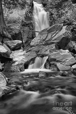 Photograph - Streams Of Falls Creek Falls Black And White by Adam Jewell
