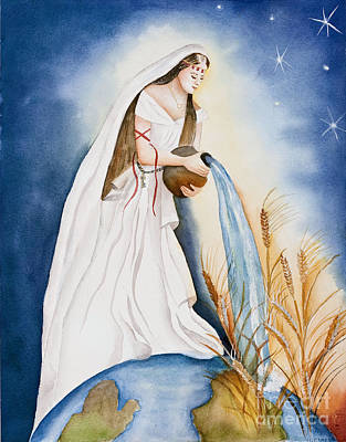 Bride Of Christ Painting - Streams Of Living Waters by Malvina Laudicina
