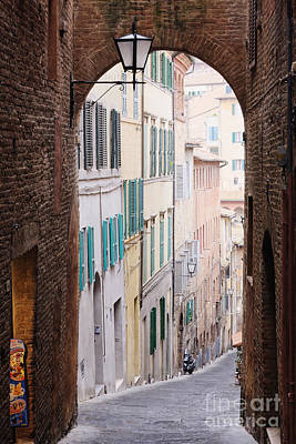 Flagstone Photograph - Street Archway by Jeremy Woodhouse