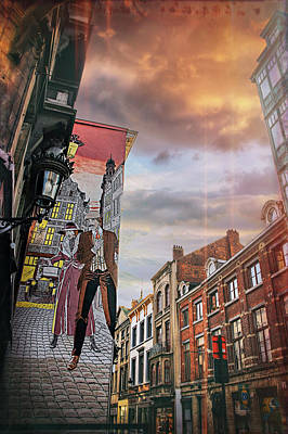 Comics Royalty-Free and Rights-Managed Images - Street Art in Brussels Belgium by Carol Japp