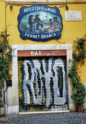 Photograph - Street Art In Trastevere In Rome Italy by Richard Rosenshein
