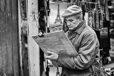 Photograph - Street Artist In Montmartre by Pablo Lopez