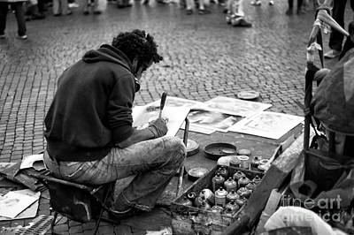 Photograph - Street Artist In Roma by John Rizzuto